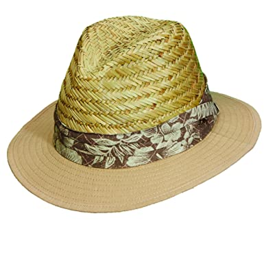 fc483c152fd19 Tommy Bahama Men s Rush Crown Safari Hat with Tropical Band (S M) at ...