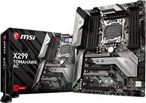 MSI Arsenal Gaming Intel X299 LGA 2066 DDR4 USB 3.1 SLI ATX Motherboard (X299 Tomahawk AC)