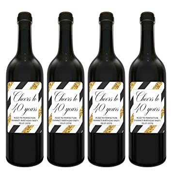 amazon com aged to perfection wine label bottle stickers for