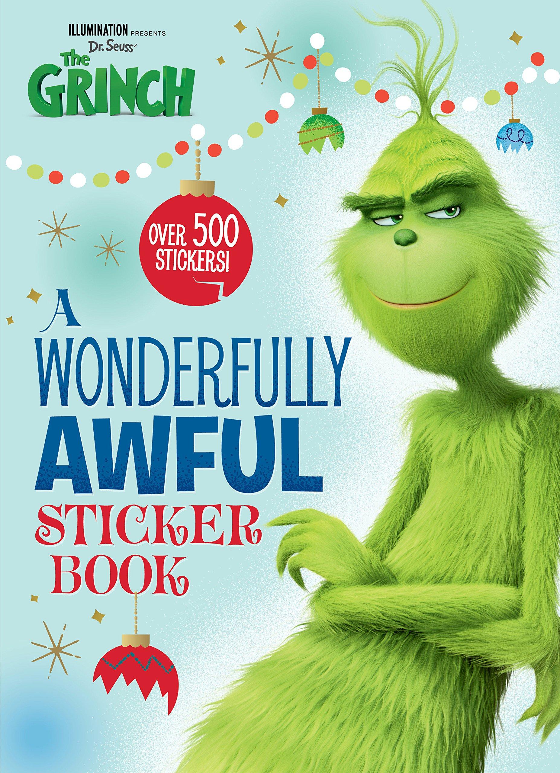 A Wonderfully Awful Sticker Book Illumination\'s the Grinch: Amazon ...