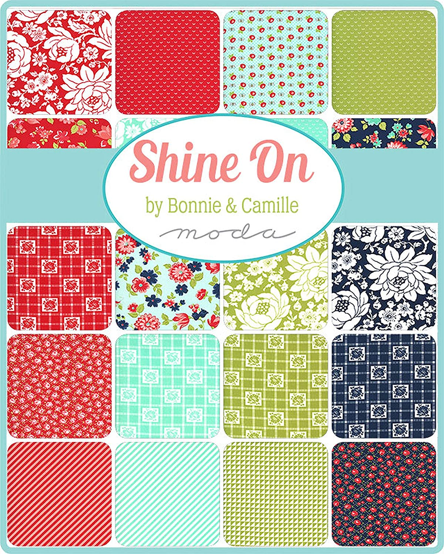Shine On Mini Charm Pack by Bonnie /& Camille; 42-2.5 Precut Fabric Quilt Squares
