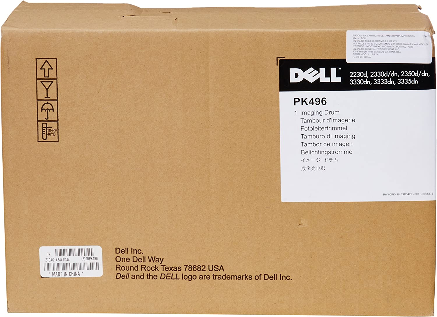 Dell PK496 Black Imaging Drum Kit 2230d, 2330d/dn, 2350d/dn/3330dn/3333dn/3335dn Laser Printer