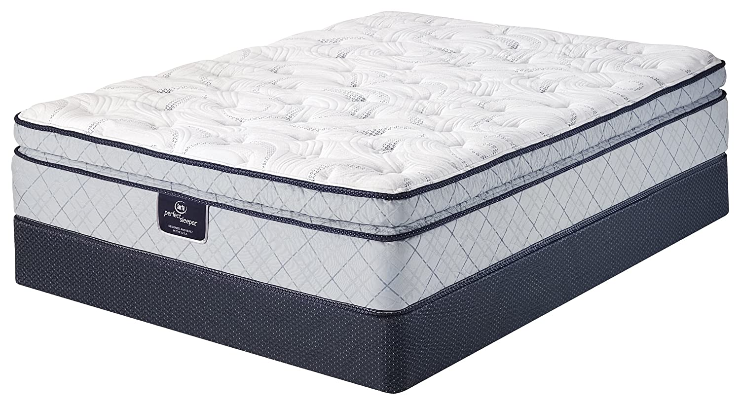 Serta Perfect Sleeper Super Pillow Top Mattress, Cool Gel Foam, Innerspring
