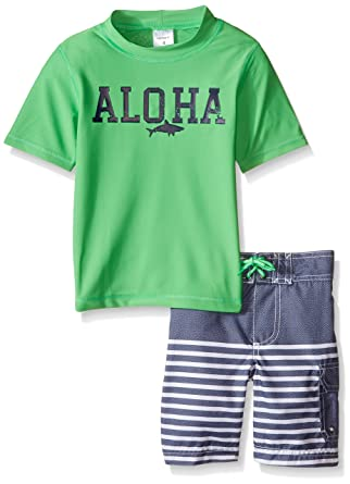 629751c3a8 Amazon.com: Carter's Aloha Rash Guard Set Green 7: Clothing