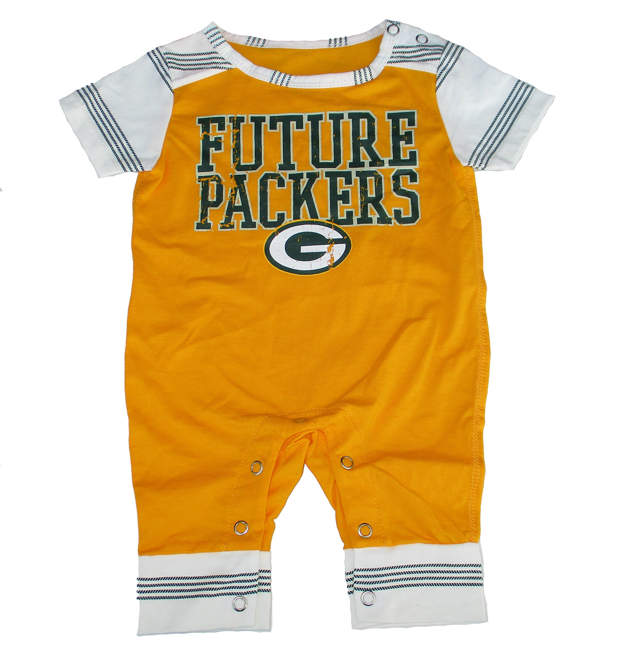 99041509 Green Bay Packers FUTURE PACKERS Romper Infant Size 0-3 Months ...