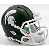 MICHIGAN STATE SPARTANS NCAA Riddell Revolution SPEED Mini Football Helmet MSU (SATIN GREEN)
