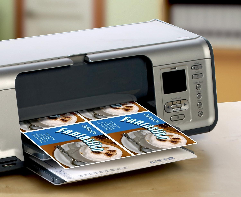 185 g C32253-25 A4-fogli con 4 carte segnaposto microperforazione microperforato Biglietti senza strati 110 x 40 Avery Zweckform 25 fogli bianco