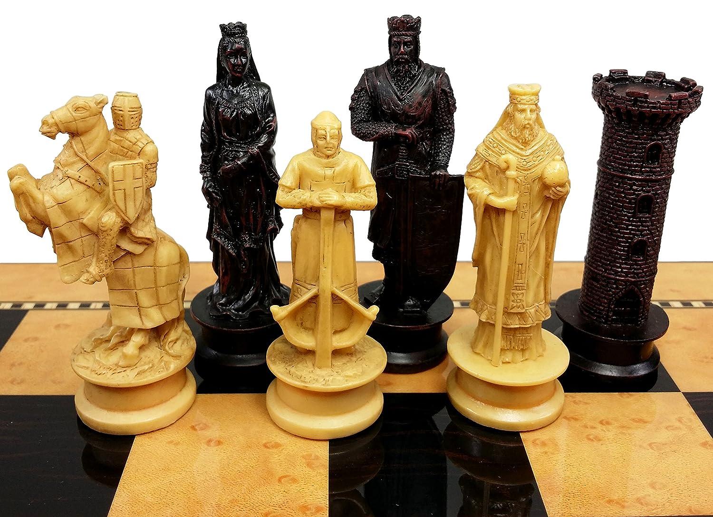 高品質の激安 Medieval BOARD Times Crusades King NO B071LKVJMH Richard Lionheart Knight Chess Men Set Antique Color- NO BOARD B071LKVJMH, オバタチョウ:e579a1fe --- nicolasalvioli.com