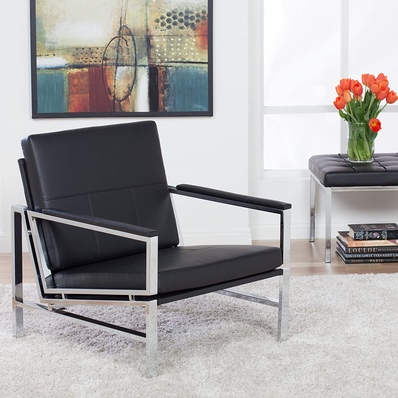 Amazon.com: Studio Designs 72005 Bonded Leather Atlas Accent Chair ...