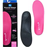Arch Support Shoe Orthotic Inserts for Women, Pinnacle by Powerstep, Pink, Max Cushion