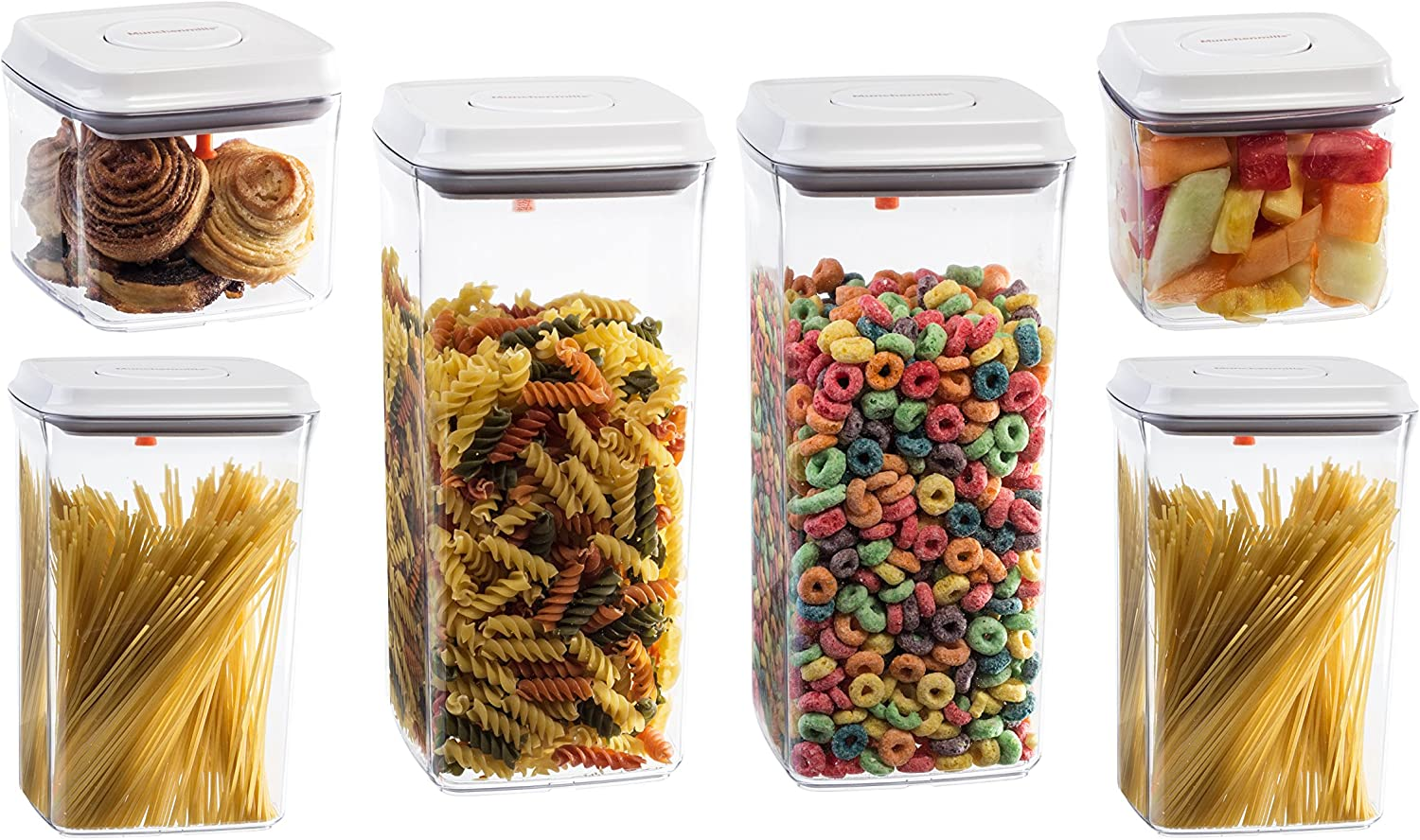 Amazon Com Food Storage Containers Set Of 6 Airtight Seal