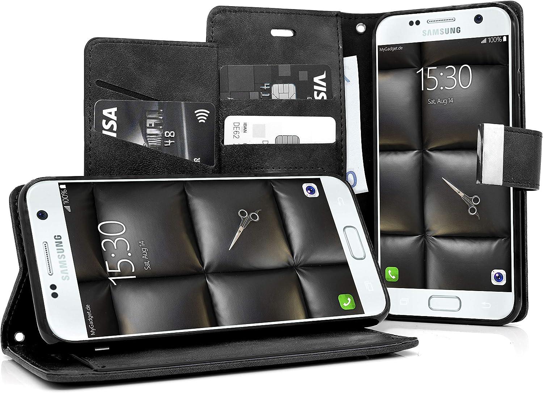 Mygadget Flip Case Klapphülle Für Samsung Galaxy S7 Mit Elektronik