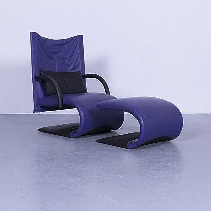 Amazoncom Ligne Roset Designer Leder Sessel Garnitur Violett Lila
