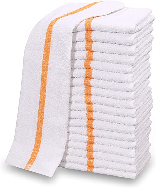 Standard Cotton Tea Towels Pack of 10 Kitchen Restaurant Catering Washing Up Dry