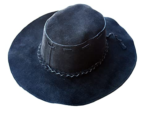 884761b3 Old Harry's Hats Women & Men Black Suede Floppy Hat at Amazon ...
