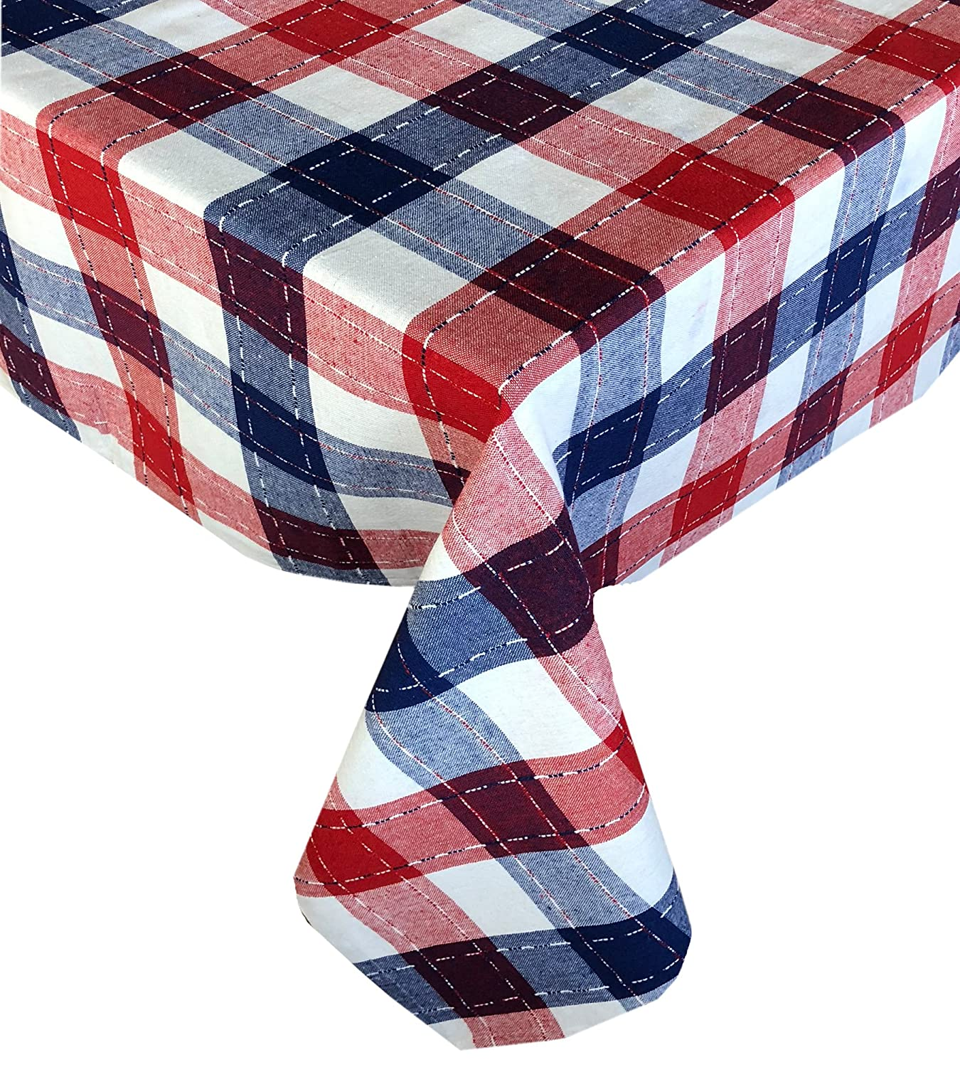 White and Blue Heavy Weight Placemats by Lintex Lintex Americana Patriotic Plaid Cotton Weave Fabric Place Mat Set Festive Red Set of 4 Place Mats