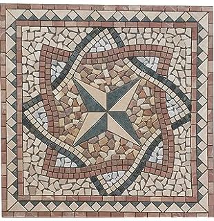 Antikmarmor Rosone X Cm Windrose Mosaik Einleger Fliesen Rosso - Mosaik fliesen draußen