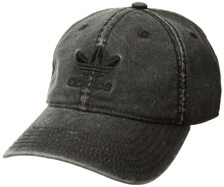 Adidas Men 's Originals Relaxedストラップバックベースボールキャップ One Size グレー/ブラック B0734QKQCQ