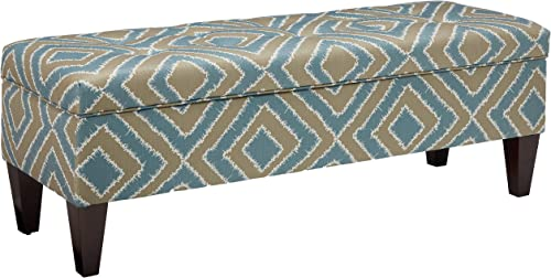 Sole Designs Nouvea Collection Upholstered Storage Bench with Built in Storage, 56 x19 x19 Capri