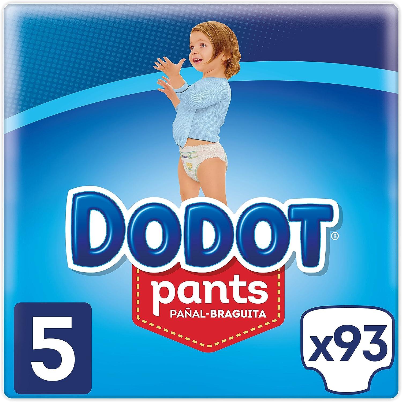 Dodot Pants - Pañales Braguitas, fácil de cambiar con canales de aire, talla 5 (12-17 kg), total de 93: Amazon.es: Salud y cuidado personal
