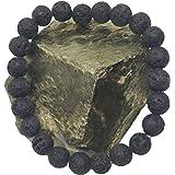 Plusvalue Lava Beads Stone Bracelet for Strength, Positivity & Harmony Reiki Healing Bracelet for Men & Women 8mm