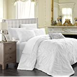Chic Home Isabella 5-Piece Comforter Set, Queen, White