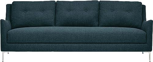 Amazon Brand Rivet Abel Modern Contemporary Sofa, 81 W, Navy