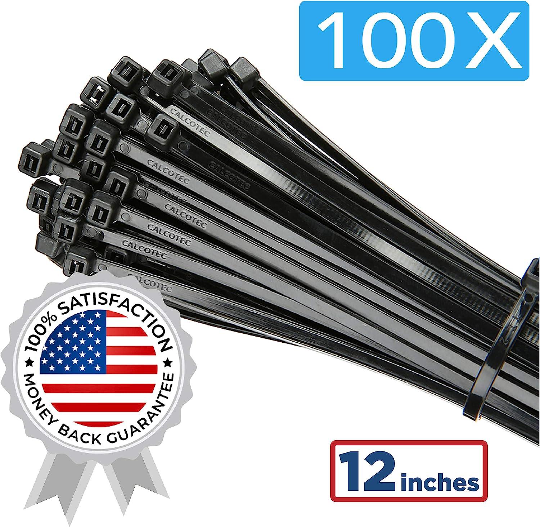 33 Cable Ties Black Assorted Sizes Garage DIY Tie Lock Zip Wraps Nylon Tidy Hose