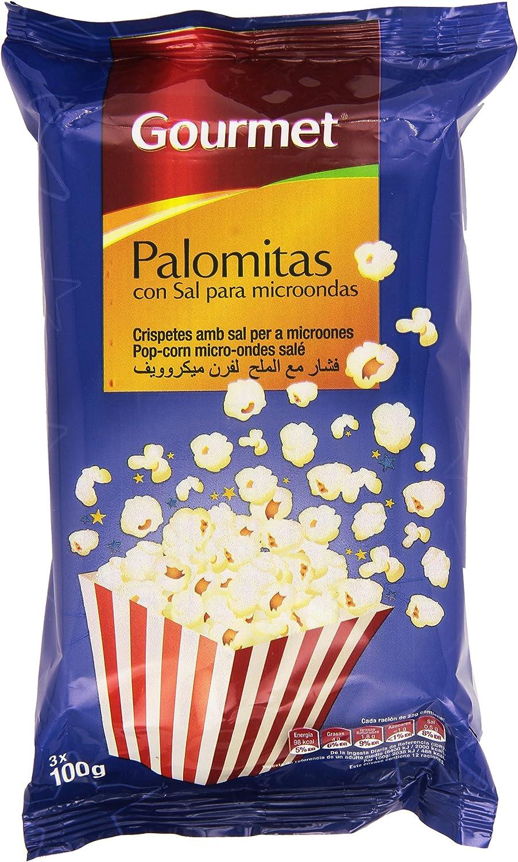 Gourmet - Palomitas con sal para microondas - 3 x 100 g: Amazon.es ...