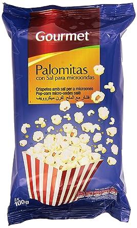 Gourmet - Palomitas con sal para microondas - 3 x 100 g