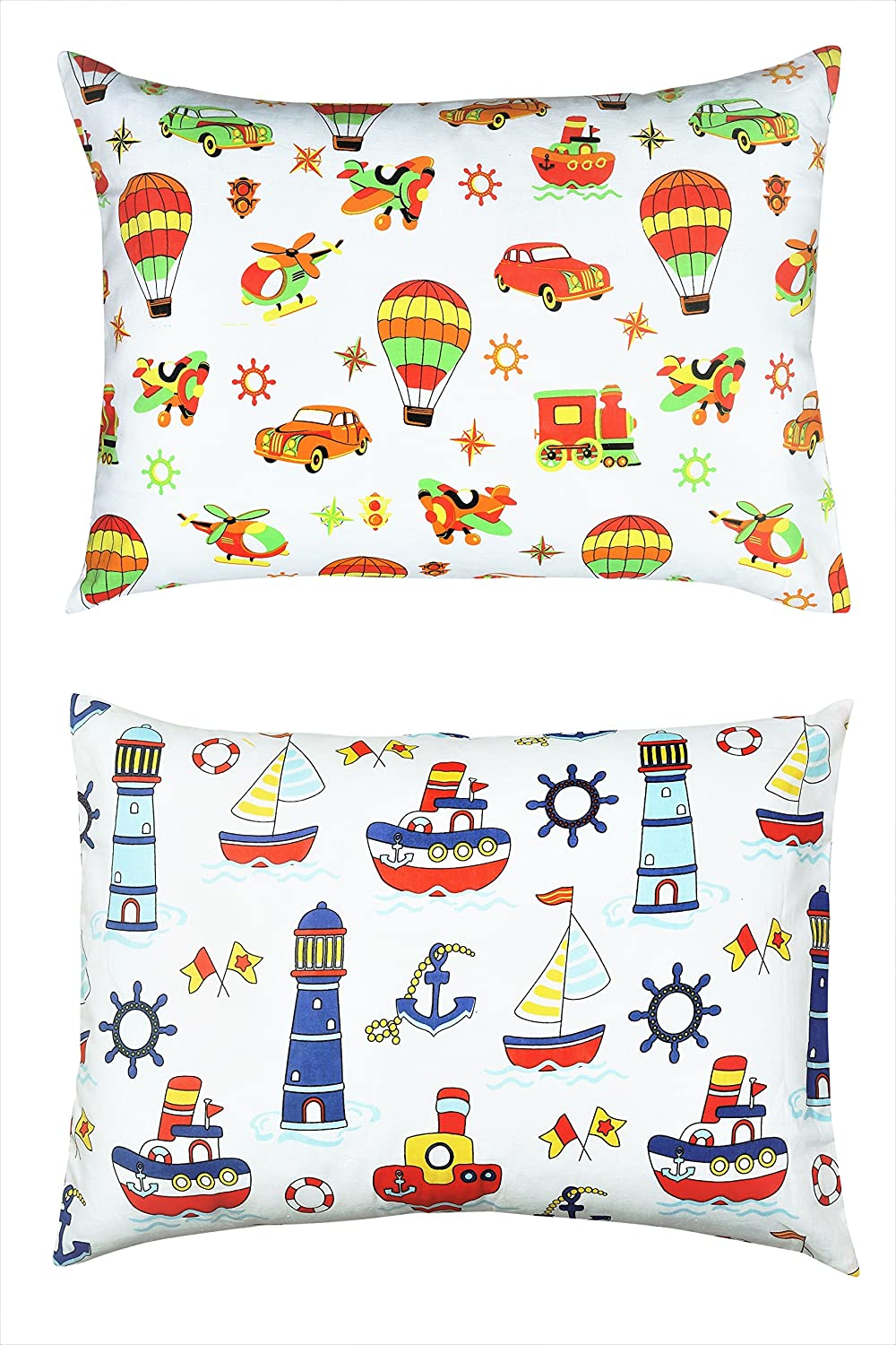 YourEcoFamily Toddler Pillowcases Colorful Girls 2 Pack Soft Comfy Naturally Hypoallergenic 100/% Certified Organic Cotton