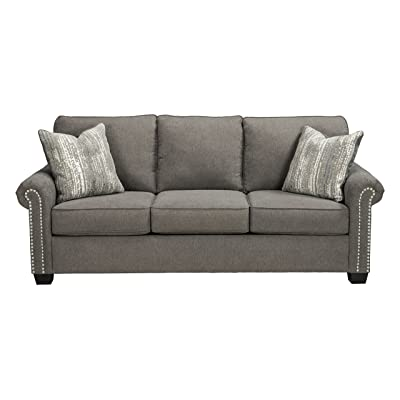 Benchcraft - Gilman Contemporary Upholstered Sofa - Charcoal