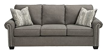 Superb Benchcraft Gilman Contemporary Upholstered Sofa Charcoal Ocoug Best Dining Table And Chair Ideas Images Ocougorg