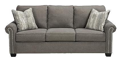 Amazon Com Benchcraft Gilman Contemporary Upholstered Sofa