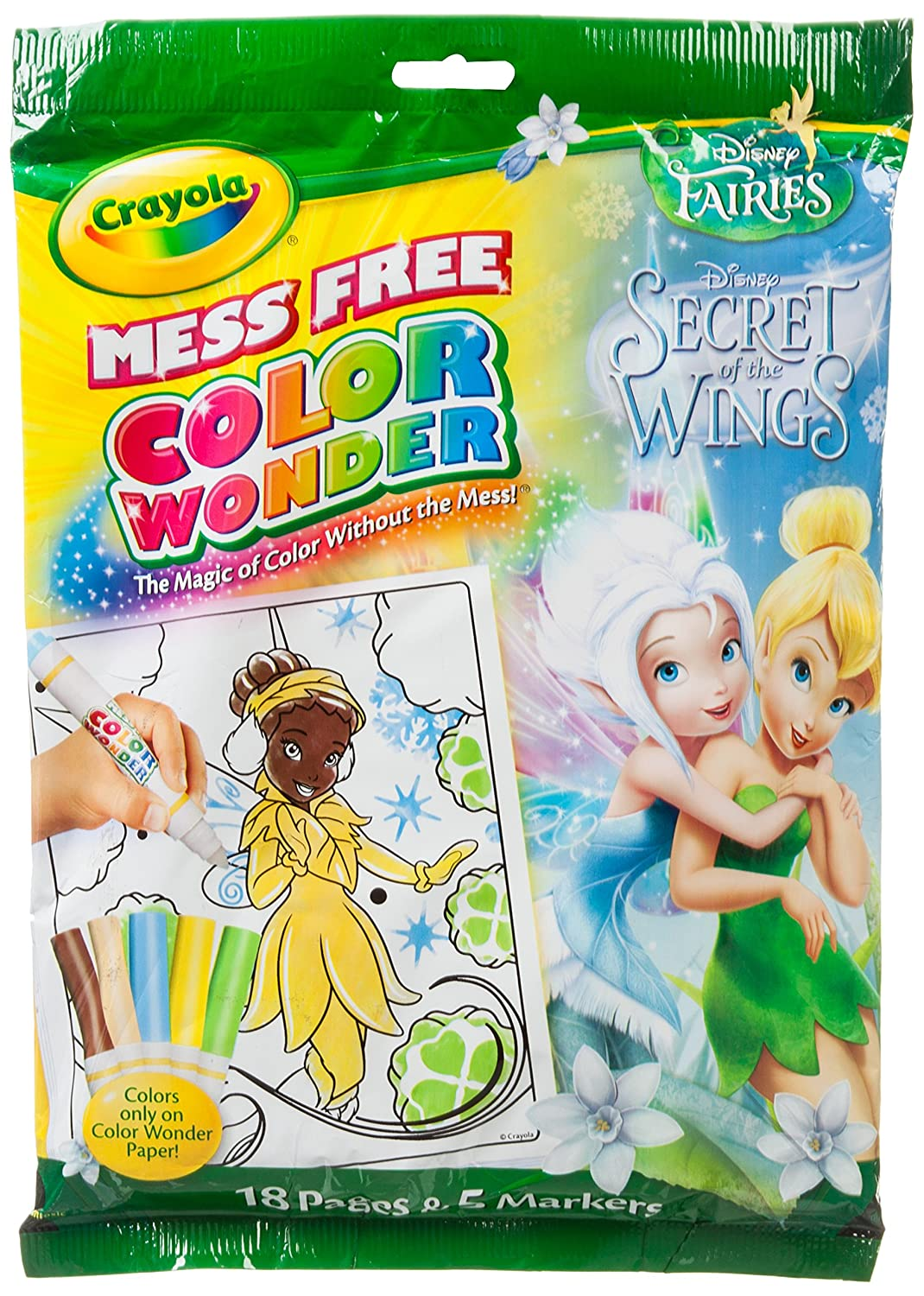 Buy Crayola Color Wonder Disney Fairies Secret of the Wings 18 Pages ...