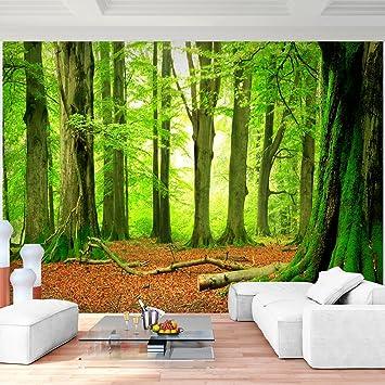 Fototapete Wald 352 x 250 cm Vlies Wand Tapete Wohnzimmer ...