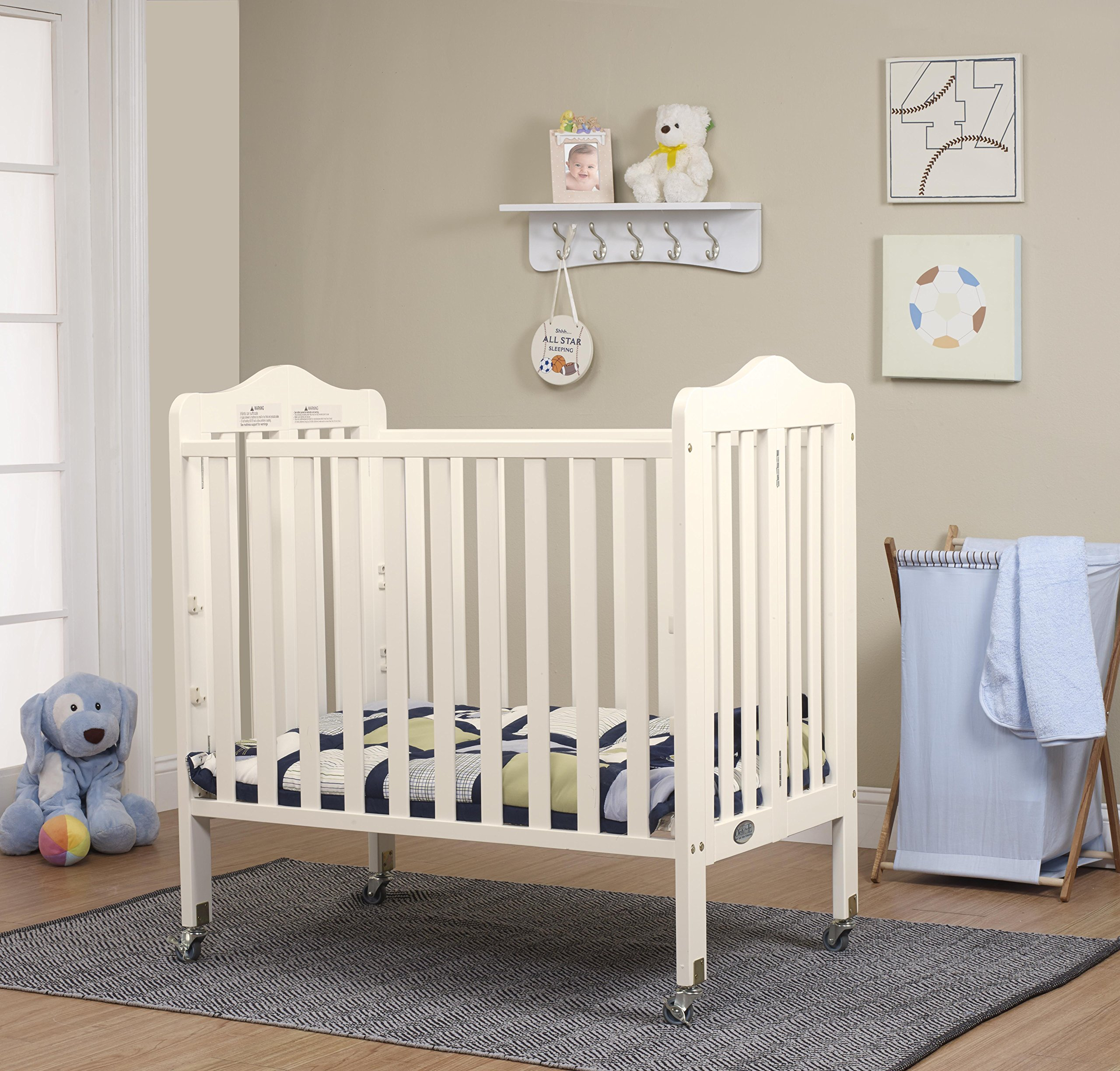 Orbelle Tina Three Level Mini Crib, French White by Orbelle