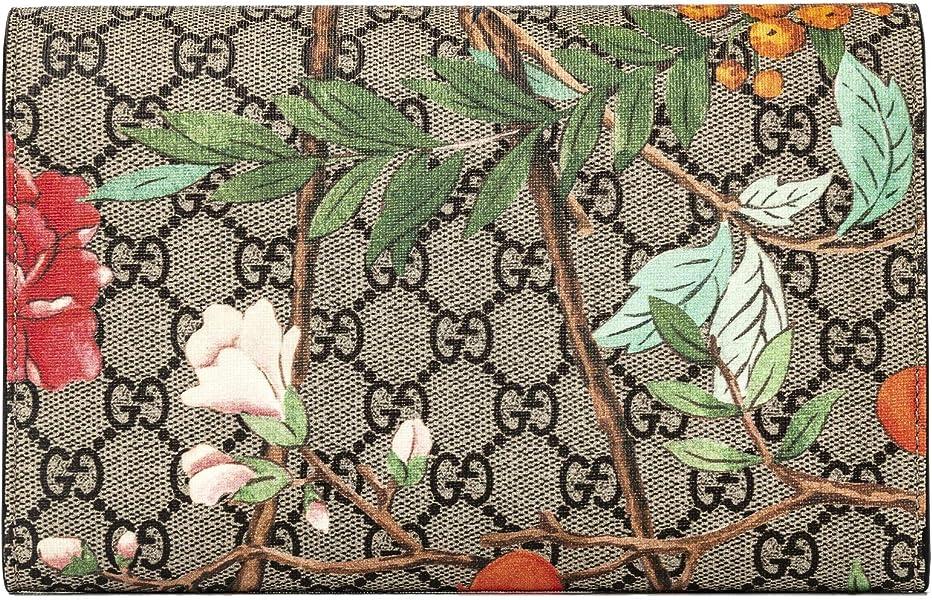 57b3a6c83b0 Amazon.com  Gucci GG Tian CLUTCH Bag Flowers Hummingbird Bird ...