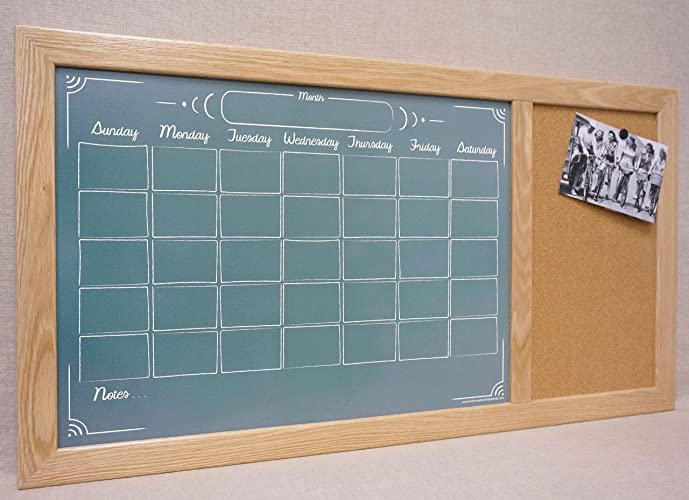 custom framed command center green chalkboard calendar dry erase board cork