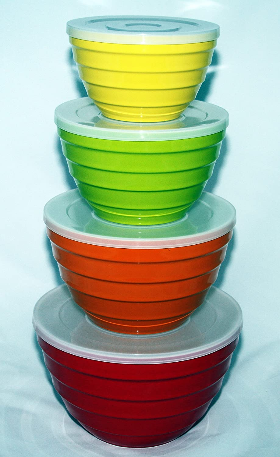Nesting Bowl Set Stacked Bowls Ready For Baking Day