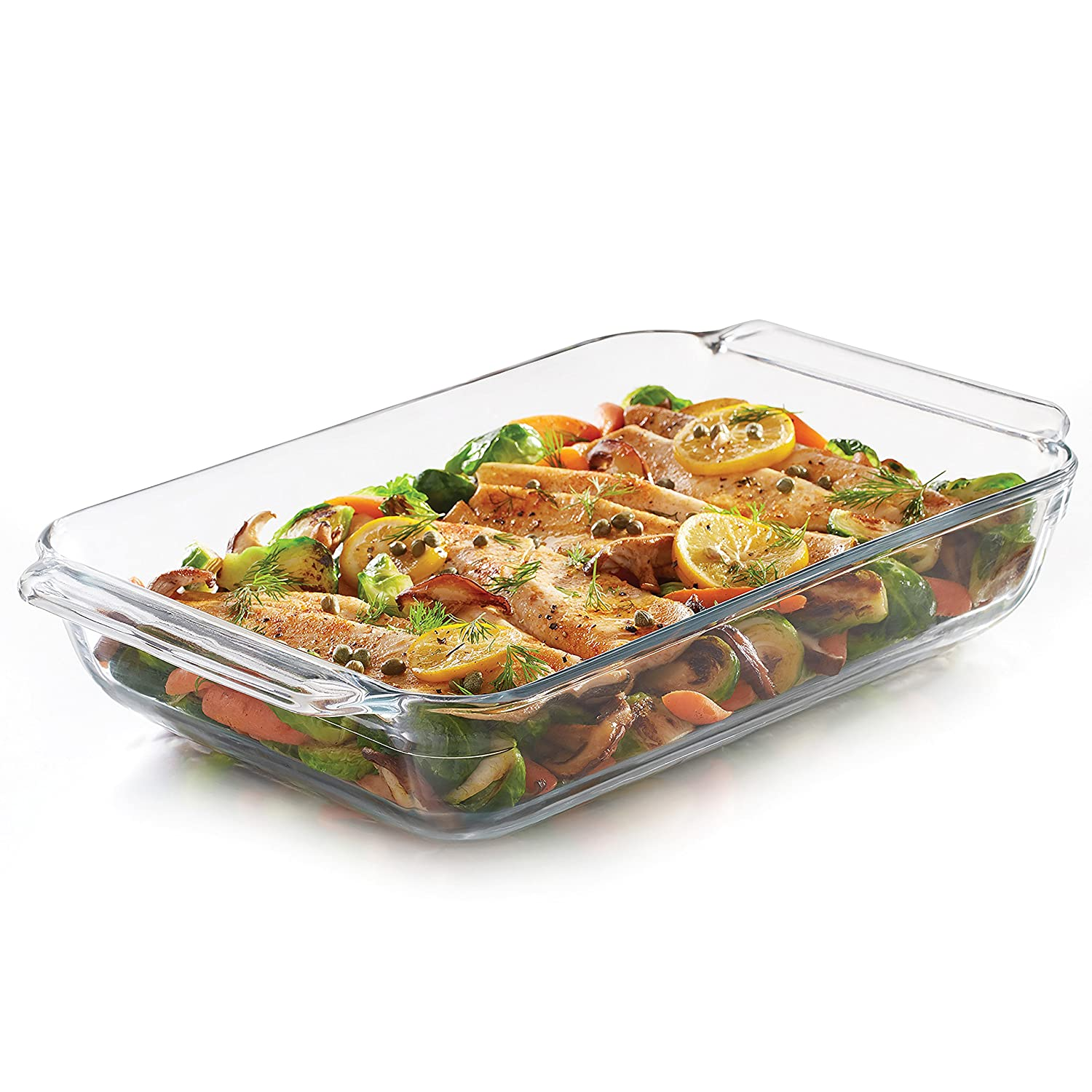 Libbey Baker's Premium Glass Casserole Baking Dish, 9-inch by 13-inch
