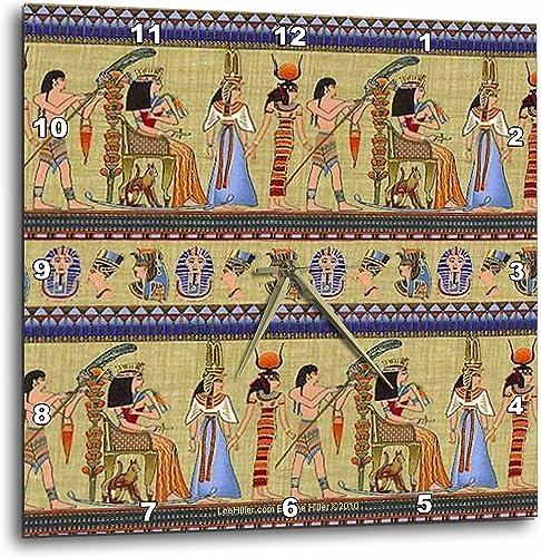 3dRose Lee Hiller Designs General Themes – Egyptian Hieroglyphics – 15×15 Wall Clock DPP_4937_3