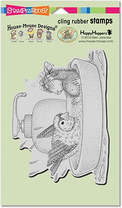 Cling House Mouse Stamp Butterfly Ride Stampendous Rubber