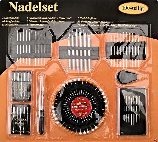 coser. Set 100 Piezas Máquina de coser agujas para Jeans y ...