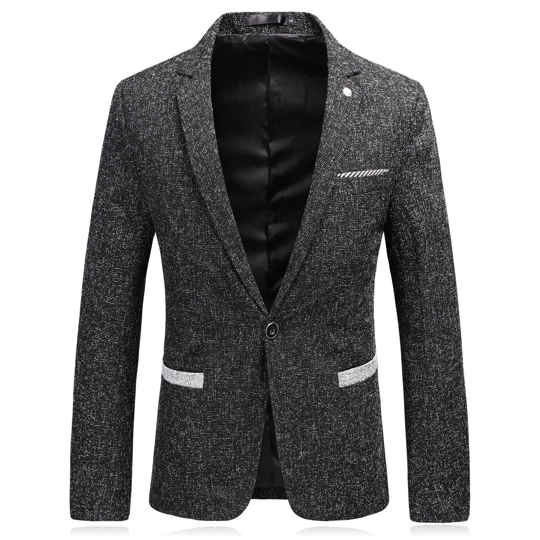 Männer im Anzug und EIN echter Mann und männer zwanglos Anzug Button Anzug,schwarz,XL