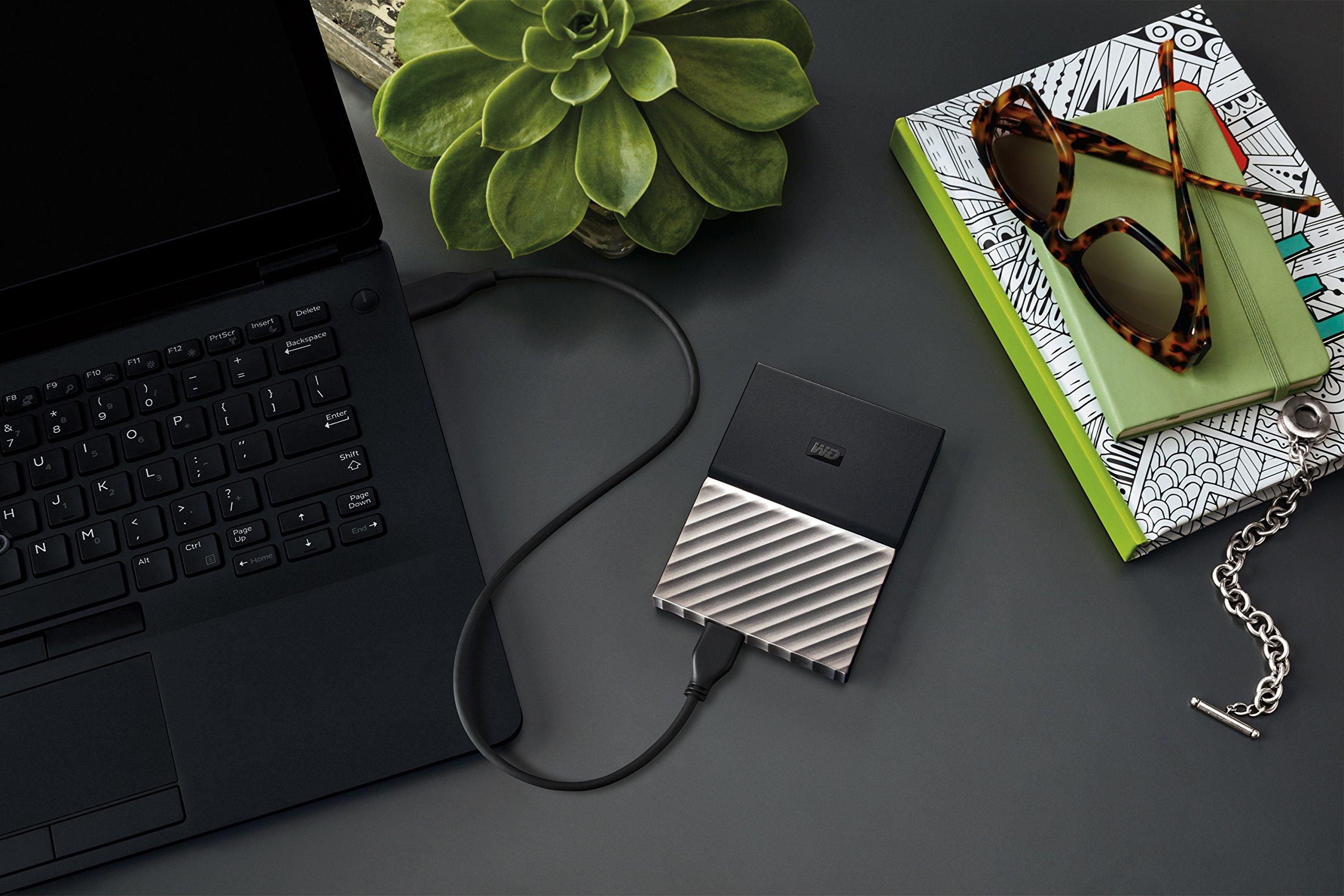 WD 1TB Black-Gray My Passport Ultra Portable External Hard Drive - USB 3.0 - WDBTLG0010BGY-WESN (Old Generation) by Western Digital (Image #5)
