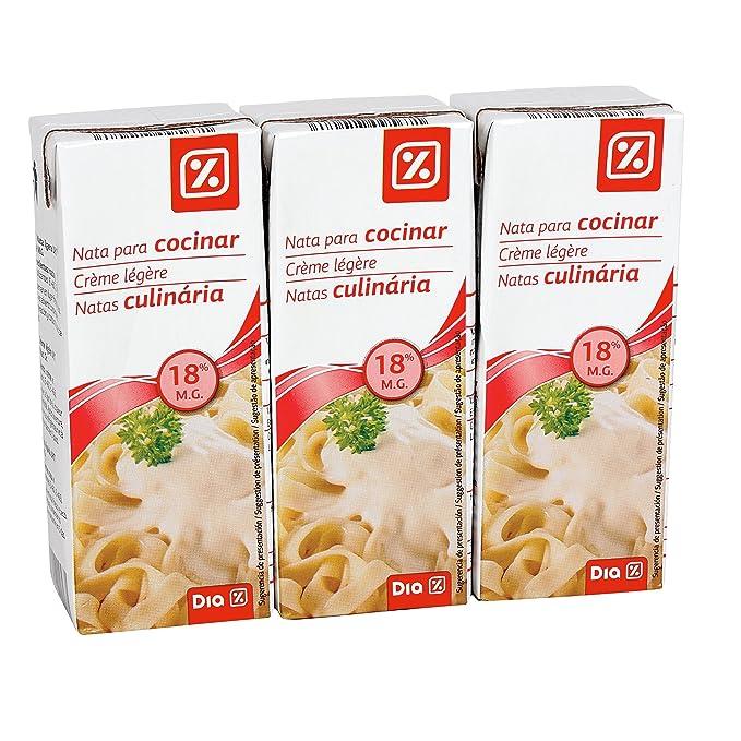 DIA - Nata Líquida Para Cocinar 18% M.G. Pack 3 Unidades 200 Ml: Amazon.es: Alimentación y bebidas