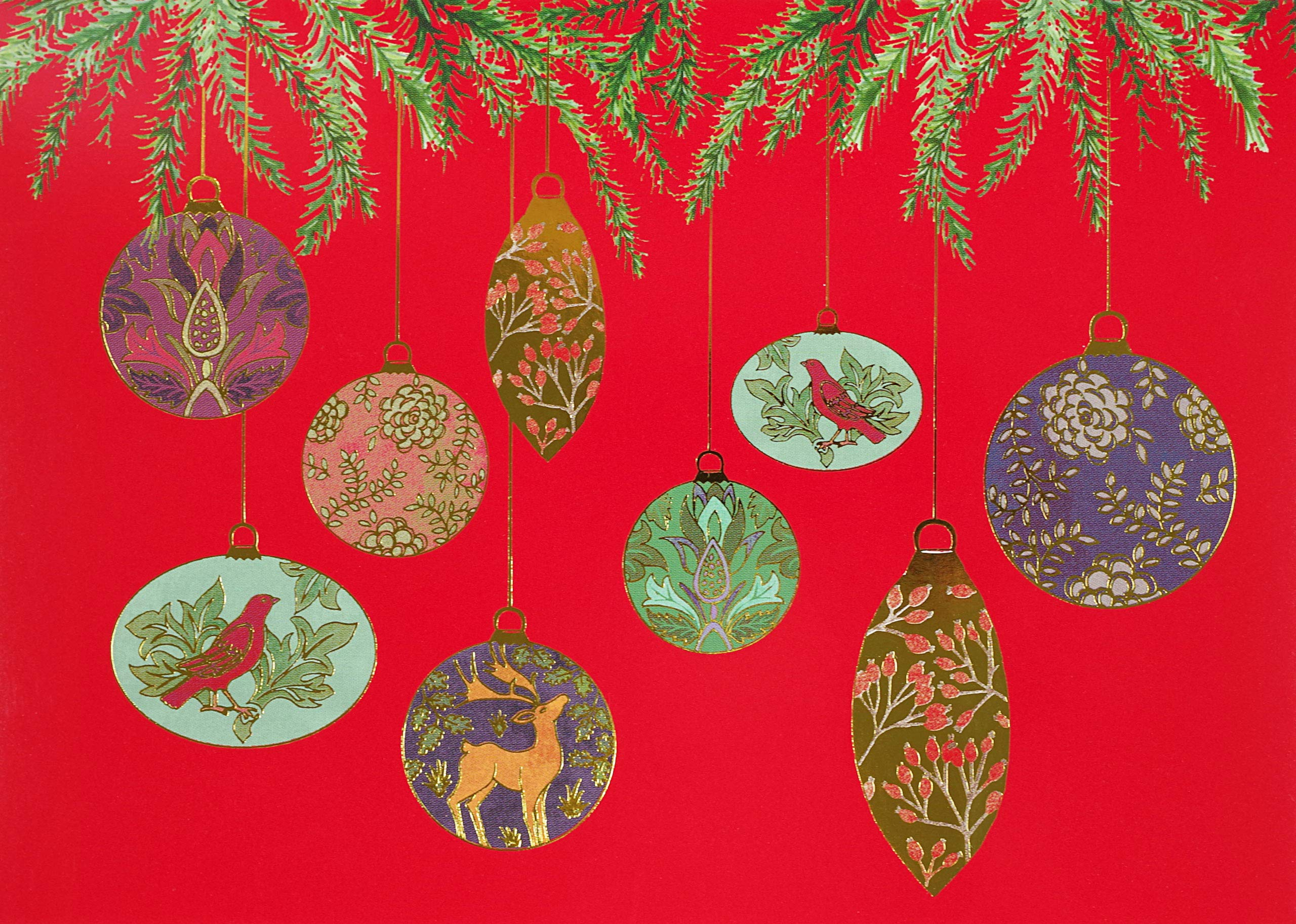 Christmas Ornaments Holiday Cards