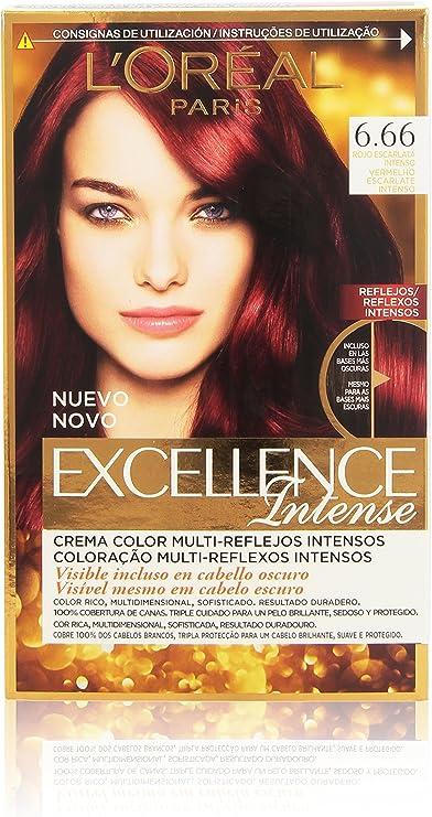 LOreal Paris Coloración Excellence Intense 6,66 Rojo ...