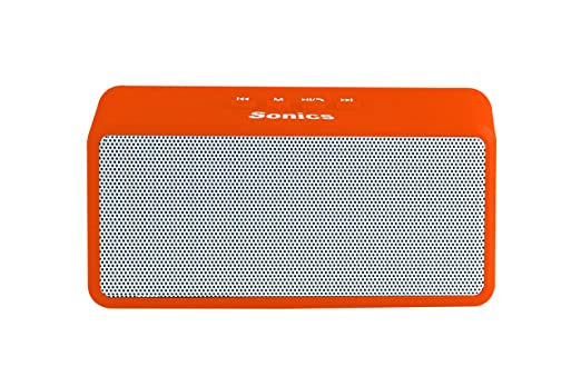 Sonics SL BS72 FM Portable Bluetooth Mobile/Tablet Speaker  Orange, single unit Channel  Speakers
